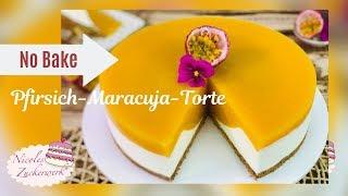 Mein HIGHLIGHT 😍: Pfirsich-Maracuja No Bake Torte I Rezept von Nicoles Zuckerwerk