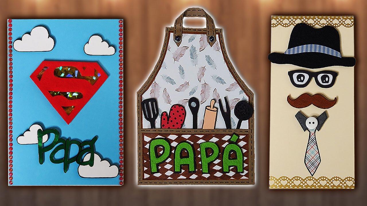 Tutorial 3 ideas de tarjetas para el d a del padre for Ideas para el lavadero