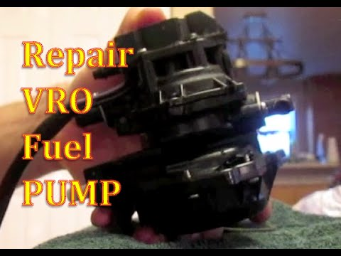 How To Repair Fuel Pump VRO Johnson Evinrude Outboard Motor Change Diaphragm