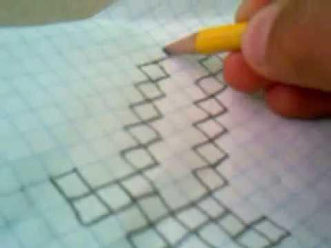 como dibujar una espada de minecraft en hoja cuadriculada  YouTube