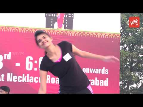 ATA Conducts Zoomba Dance  on Stage | Nacklace Road | Drug Free Hyderabad | YOYO TV Channel