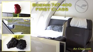 lufthansa boeing 747 400 first class world s best vancouver frankfurt airclips full flight series