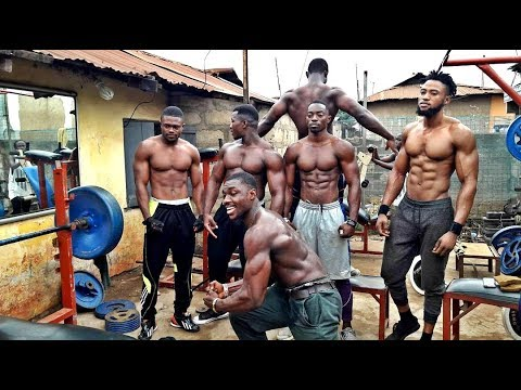 Hard In Real Street Gym African Bodybuilders Training Anywhere Anytime Anything