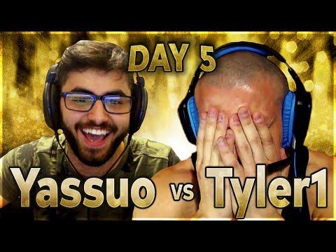 MOE CLOSES THE GAP? | YASSUO VS TYLER1 - $10K BET: DAY 5