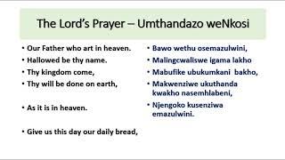 Conversational IsiXhosa. The Lord's Prayer