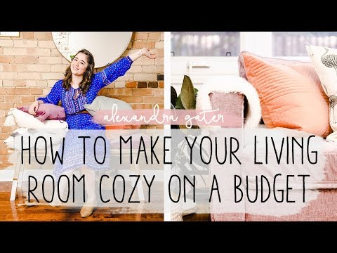 Making My Living Room A Cozy Oasis For Under $50 | Hygge