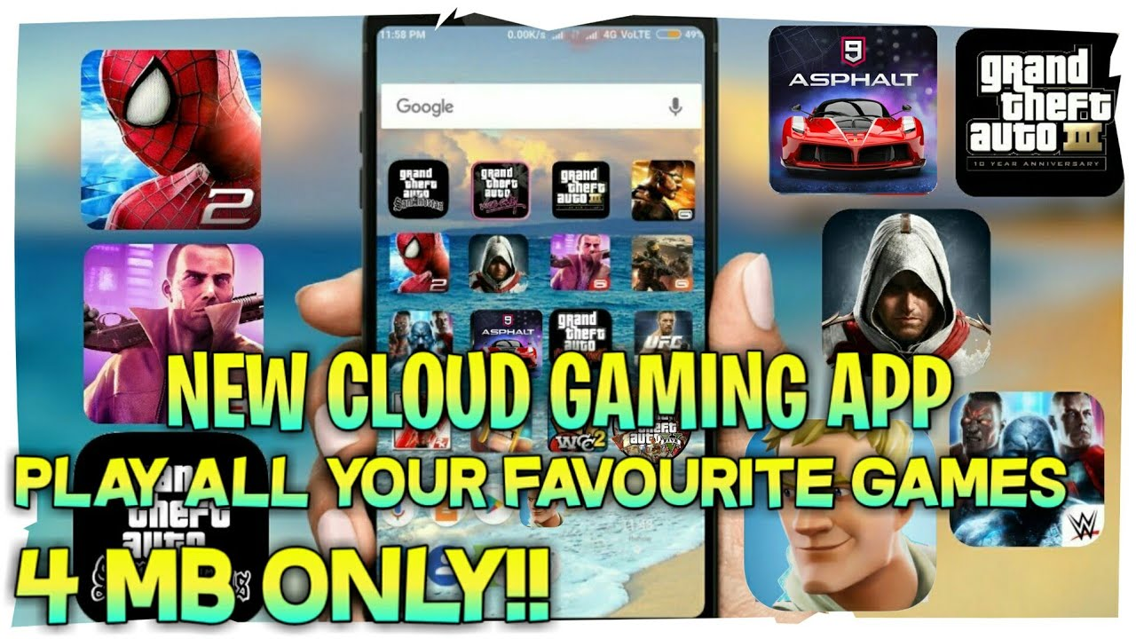 NEW CLOUD GAMING APP FOR ANDROID[4 MB]PLAY 1400+ ANDROID GAMES WITHOUT DOWNLOADING THEM  #Smartphone #Android
