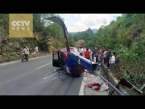 Sightseeing helicopter crashes in Chongqing