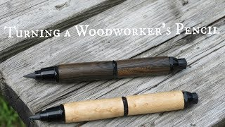 Turning a Woodworker's Pencil