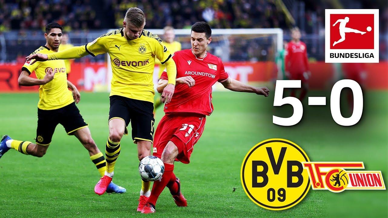 Borussia Dortmund Vs Union Berlin I 5 0 I Haaland Sancho Reus Witsel Score Youtube