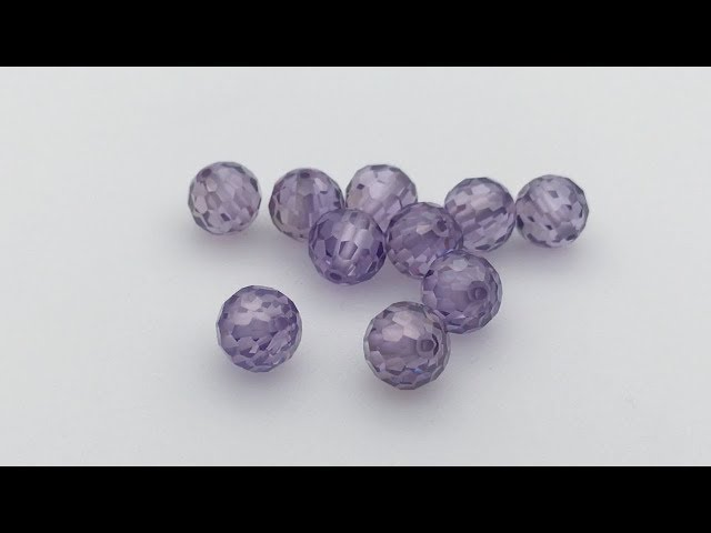 Cubic Zirconia Faceted Beads with without drilled holes wholesale