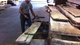 Vintage Elements - Antique Reclaimed French Oak Planks - Denailing and Sorting