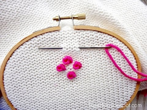 How to Embroider a French Knot (Detailed Version), Episode ...