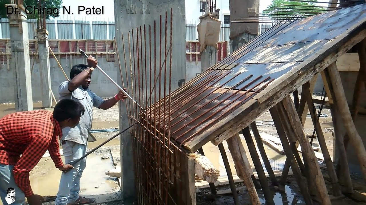 Rebar / Reinforcement For Staircase I Installation Of Steel Reinforcement I  On Site Construction   YouTube