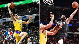 NBA Top 10 Plays: Lonzo's highlight-reel dunk, Harden's posterizing slam, Simmons' alley-oop flush