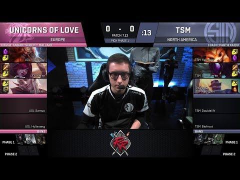 TSM vs UOL Game 1 -  Rift Rivals Finals - NA vs EU - Unicorns of Love vs Team SoloMid