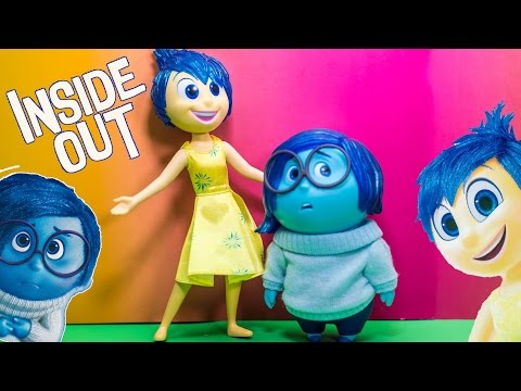 INSIDE Out Disney Pixar Inside Out Joy + Sadness Talking Figures Inside Out Video Toy Review