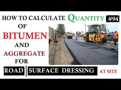How To Calculate Quantity Of Bitumen And Aggregates For Road Surface Dressing