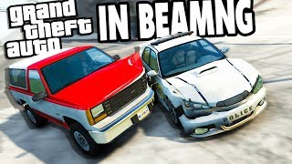 INSANE GTA Police Chases in BeamNG! - BeamNG Drive Traffic Tool Mod