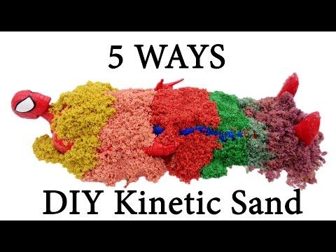 DIY Kinetic Sand Without Slime 5 Ways To Make Your Own Kinetic Sand At Home! Easy & Simple Recipes