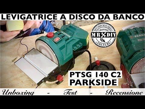 Levigatrice A Disco Parkside Lidl PTSG 140 C2. Platorello A Strappo. Levigatrice Da Banco. 2020. B2