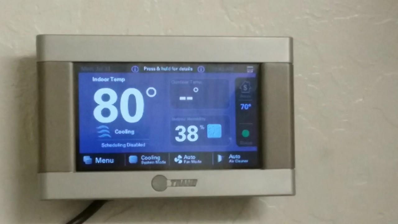 Trane Xl824 Thermostat Instructions