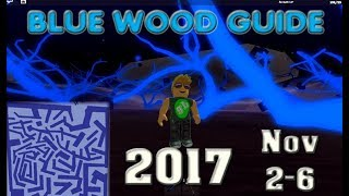 ROBLOX Lumber Tycoon - Blue Wood - Maze Guide - Labyrinth map - 2017 November 2