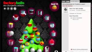 Factory Balls, the Christmas Edition Walkthrough (Medium Badge)
