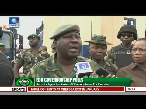 Edo Gov'ship Polls: Security Agencies Assure Of Preparedness For Exercise