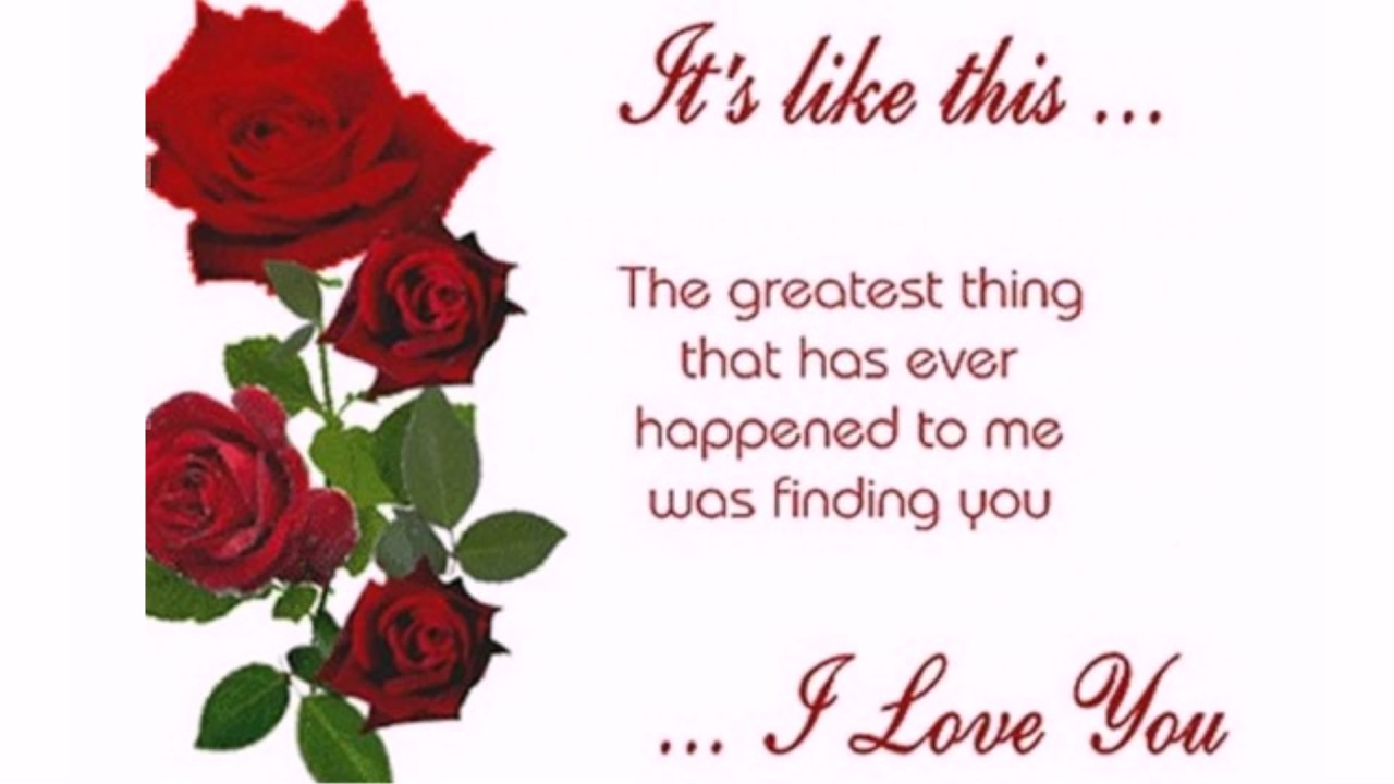 Love You Quotes I Love You Quotes For Her  Youtube