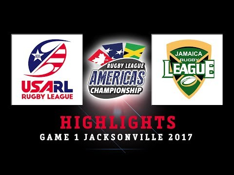 USA vs Jamaica - HIGHLIGHTS 2017 Rugby League Americas Championship