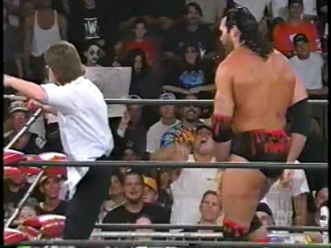 Scott Hall - Outsiders Edge on WCW referee...