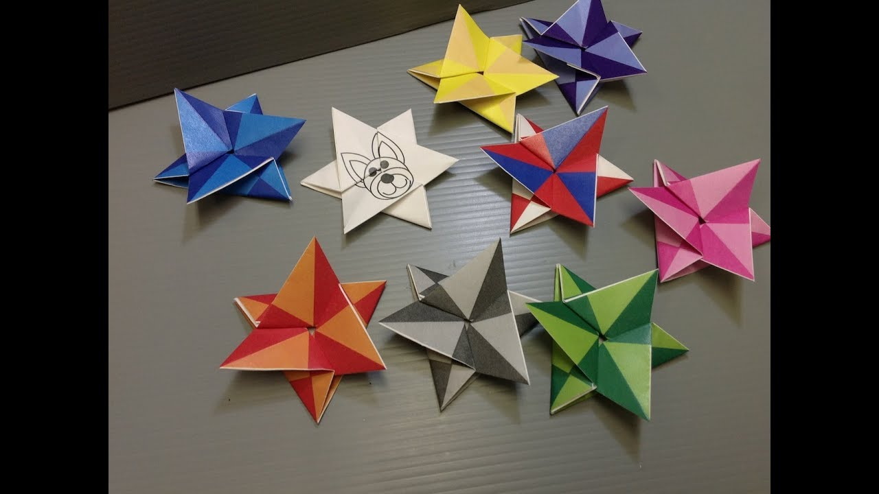 Free Origami Star Paper - Print Your Own! - Colorful Star ... - photo#24