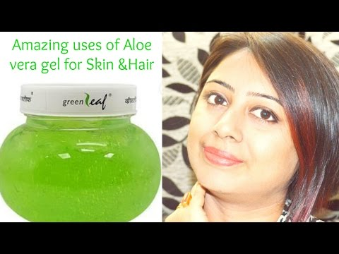 Best Uses of Aloe vera gel for SKIN and HAIR (HINDI)