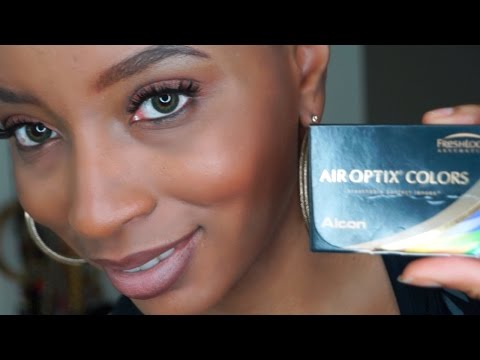💚 Air Optix Colors - Green Contact Lenses Review !!! Best Colored Contacts for Brown Eyes !!!