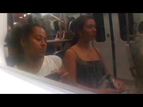 Athens metro riding 3rd generation train from agia paraskevi to ethniki amyna