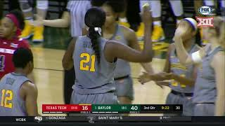 Texas Tech vs Baylor Women's Basketball Highlights