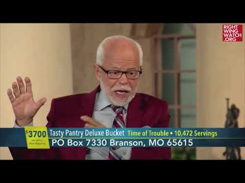 RWW News: Jim Bakker Urges Rich People To Buy A Million Dollars Worth Of Survival Food Buckets