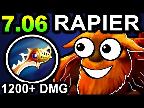 RAPIER EARTHSHAKER DOTA 2 PATCH 7.06 NEW META PRO GAMEPLAY