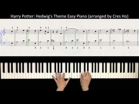 Harry Potter (Main Theme): Hedwig's Theme Easy Piano Tutorial with Music Score