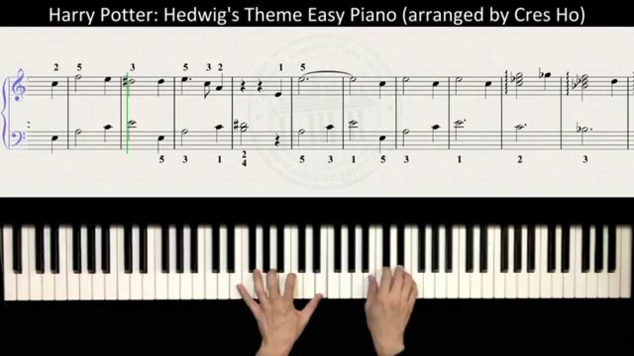 image regarding Harry Potter Theme Song Piano Sheet Music Printable Free titled Harry Potter (Most important Concept): Hedwigs Concept Straightforward Piano Manual with Tunes Rating