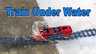 Lego train under water (PART 3: version SpongeBob)