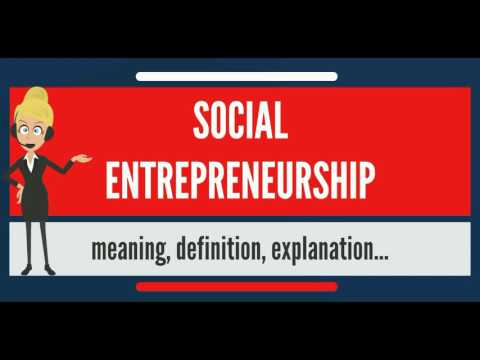 What is SOCIAL ENTREPRENEURSHIP? What does SOCIAL ENTREPRENEURSHIP mean?