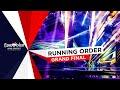 Running Order - Recap - Grand Final - Eurovision Song Contest 2021