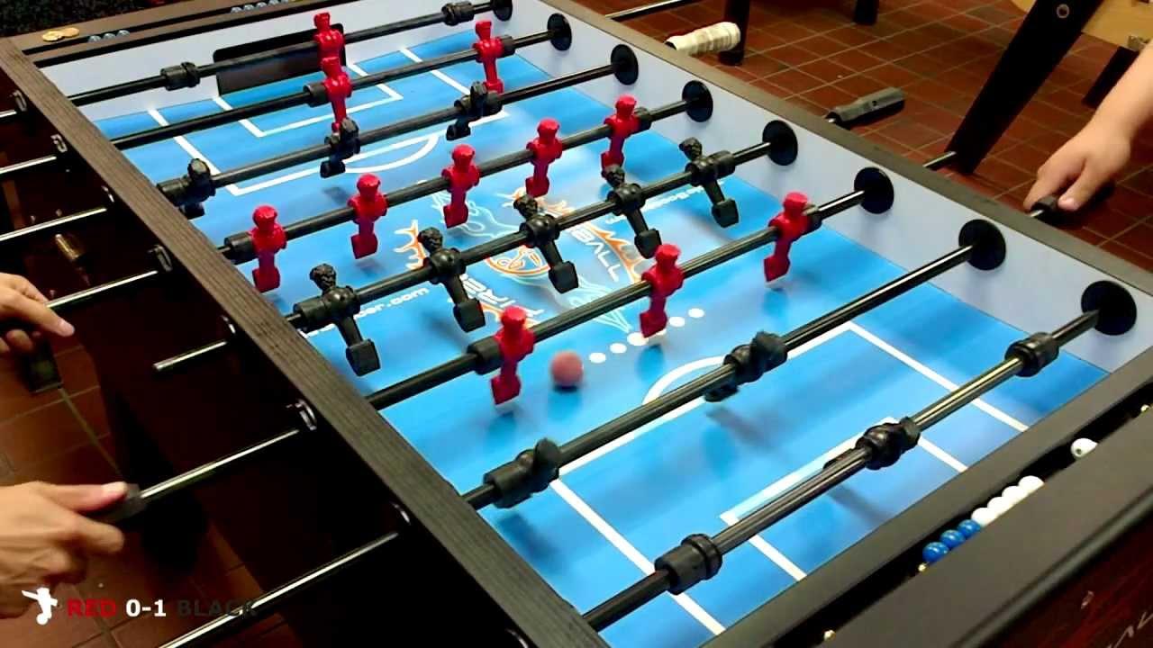 HD Fireball Foosball Singles Match Kelvin Black Vs Jago Red - Fireball foosball table