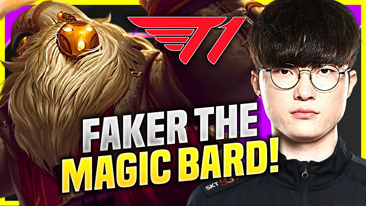 FAKER THE MAGICAL BARD! - T1 Faker Plays Bard Support vs Karma! | KR SoloQ Patch 10.19