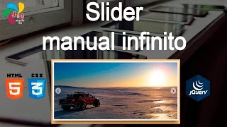 Slider manual infinito con HTML, CSS y Jquery