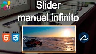 Slider manual infinito con HTML, CSS y Jquery