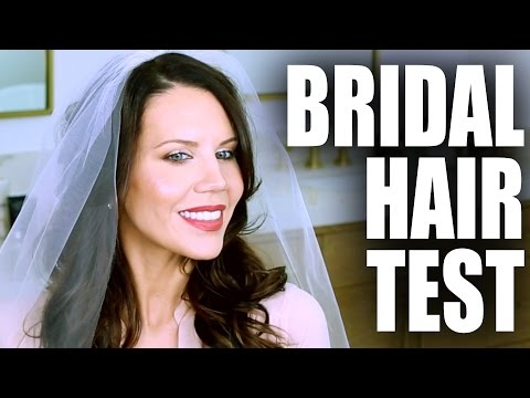 BRIDAL HAIR TEST | Tati and James Wedding