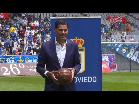 FERNANDO HIERRO, presentación oficial del nuevo entrenador del Real Oviedo